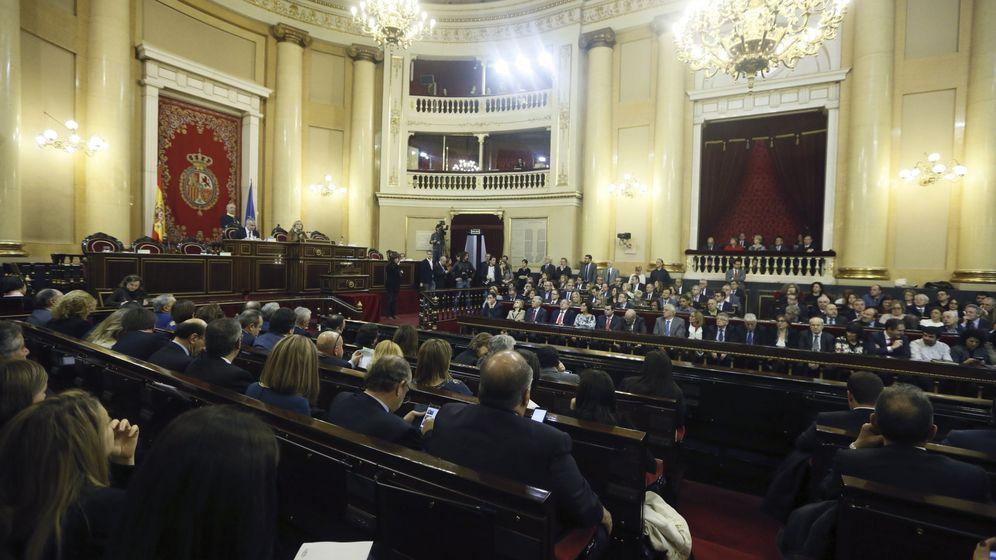 Foto: Un momento de la sesión constitutiva del Senado, este 13 de enero. (EFE)