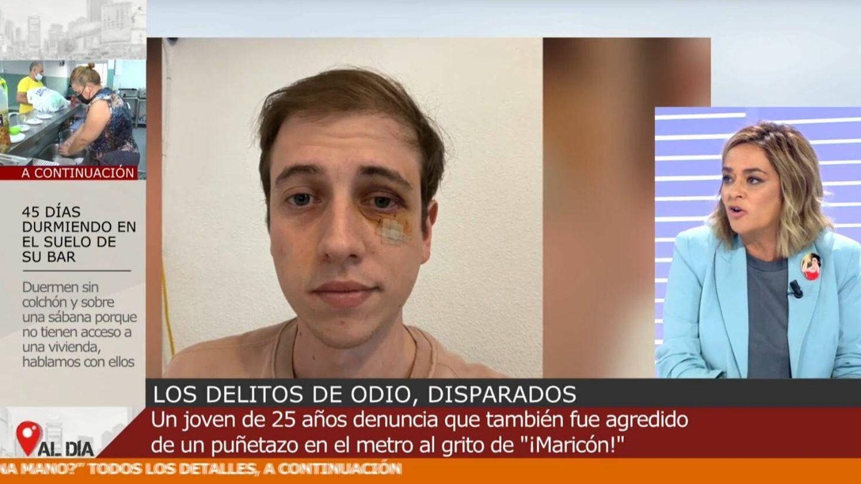 Toñi Moreno en 'Cuatro al día'. (Mediaset España)