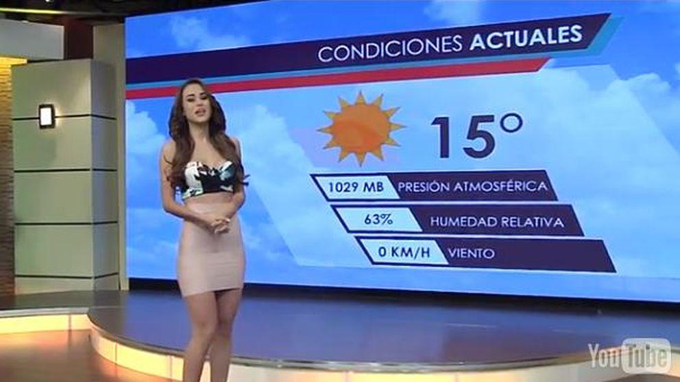 Una presentadora del tiempo revoluciona México con su vestido