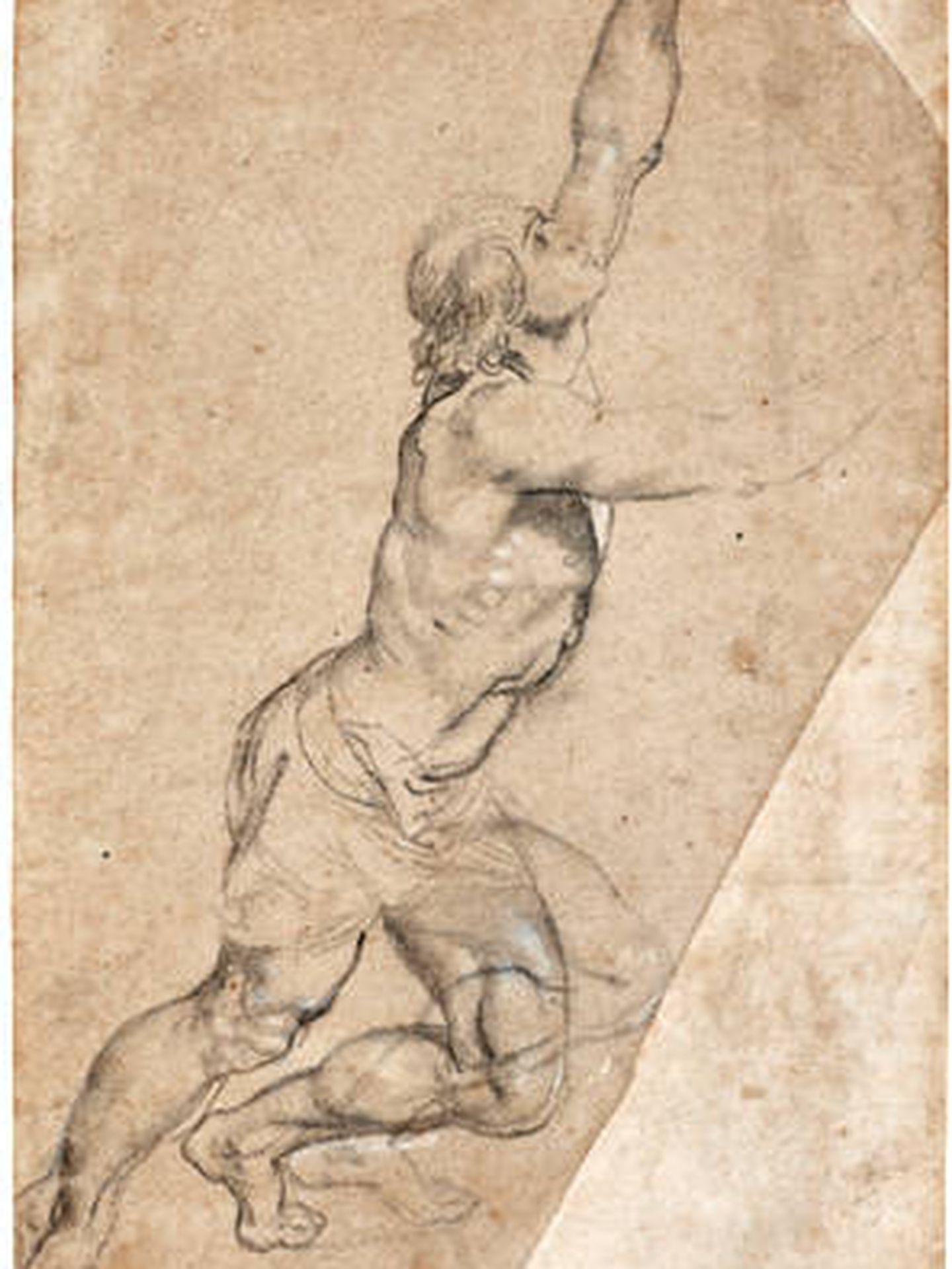 Dibujo de Rubens que ha sido vendido. (Cortesía)