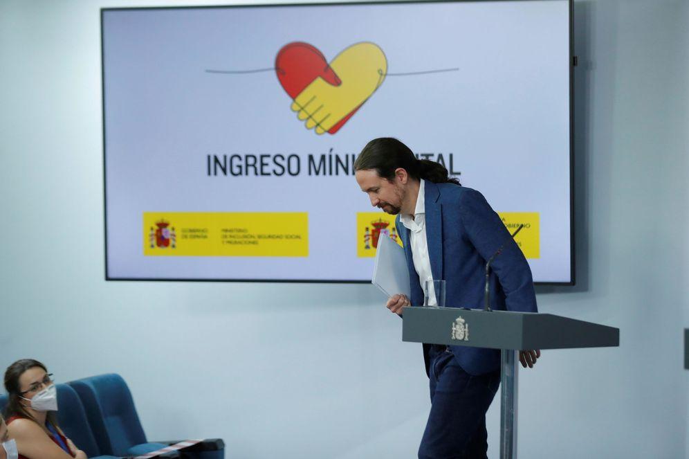Foto: Pablo Iglesias, vicepresidente segundo del Gobierno, este 29 de mayo en la Moncloa. (EFE)