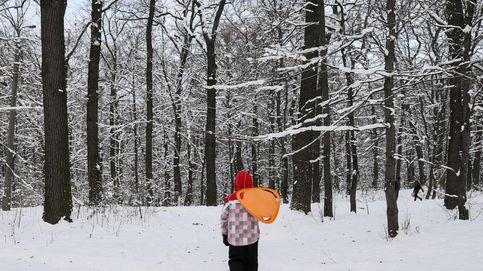 Aprovechando la nieve en Ucrania