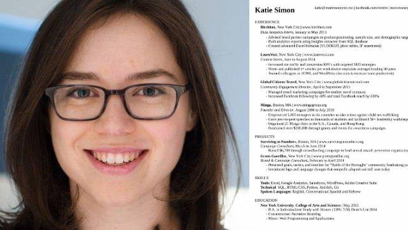 Trabajo: La mujer que redactó el currículo perfecto explica cuáles ...