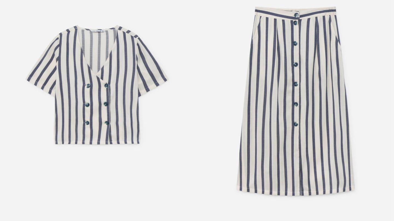 Conjunto de Lefties de falda y camisa.  (Cortesía)