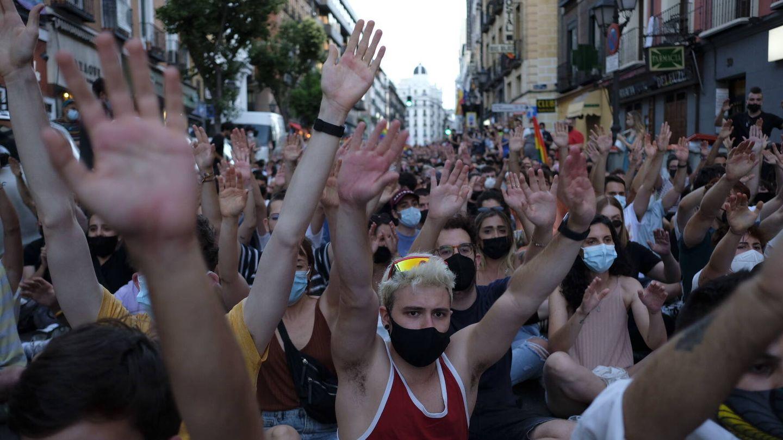 Un momento de la manifestación en Madrid. (Sergio Beleña)
