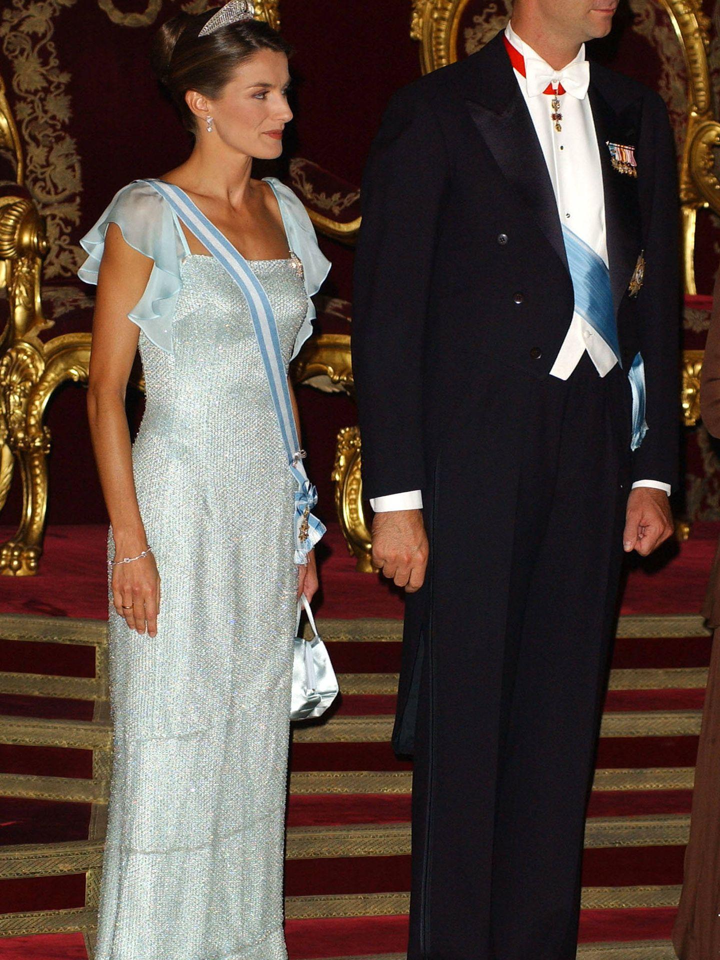 Los Reyes en una cena de gala en 2005. (Getty)