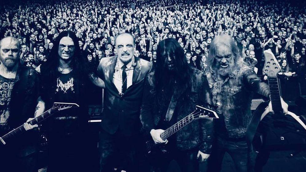 Foto: Bloodbath, al final de uno de sus multitudinarios conciertos (Foto: Facebook)