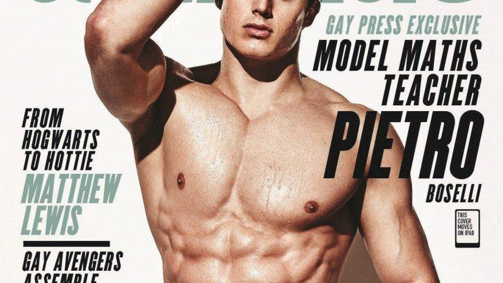 Pietro Boselli, el profesor más sexy, da el salto a las portadas