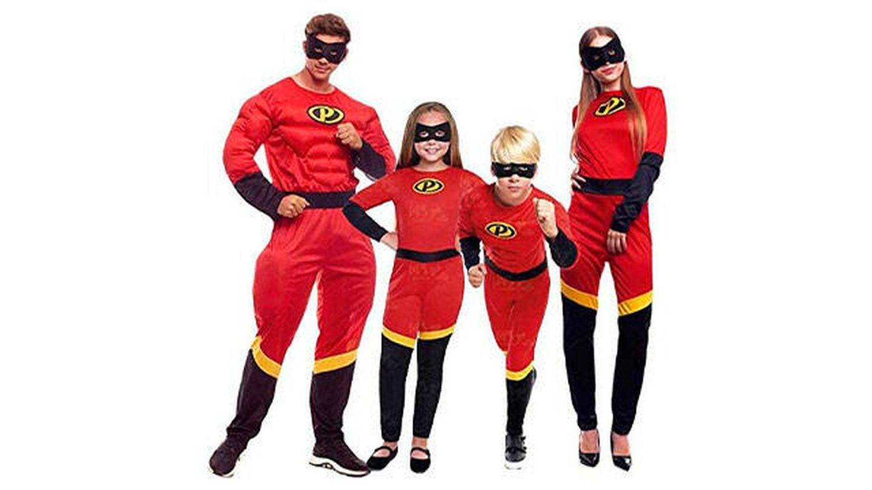 Conjunto de disfraces de Superhéroes para la familia
