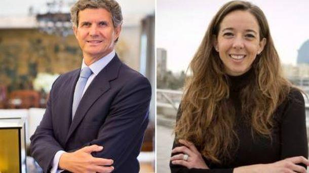 Foto: El presidente ejecutivo de la multinacional Gestamp, Francisco Riberas, y la presidenta de Holaluz, Carlota Pi. (AED)