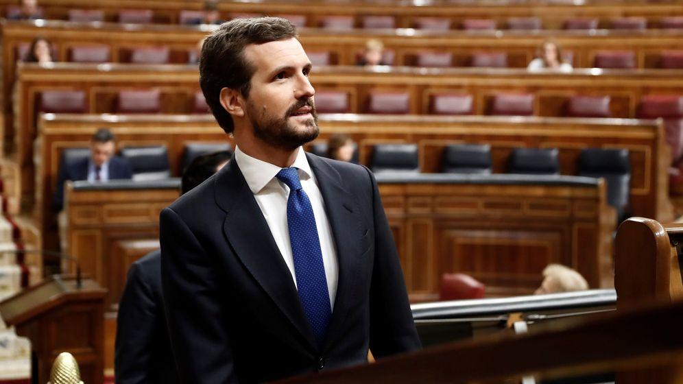 Foto: Pablo Casado en el Congreso. (EFE)