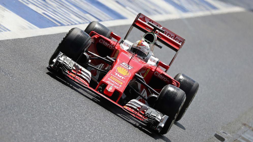 Foto: Sebastian Vettel durante el pasado GP de Gran Bretaña.