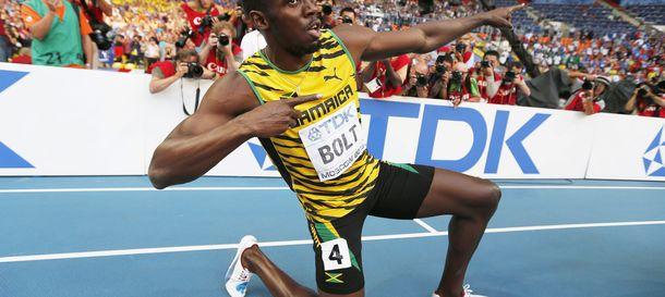 Foto: El jamaicano celebra el triunfo en los 200 m (Efe).