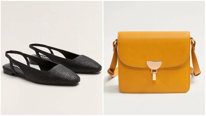 Zapatos y bolso de Mango Outlet. (Cortesía)