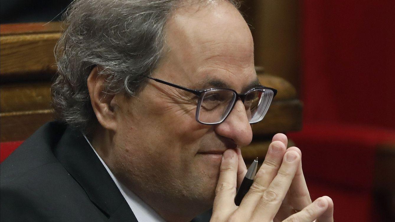 Foto: El presidente de la Generalitat, Quim Torra, durante la sesión de control del Parlamento de Cataluña, esta semana. (EFE)