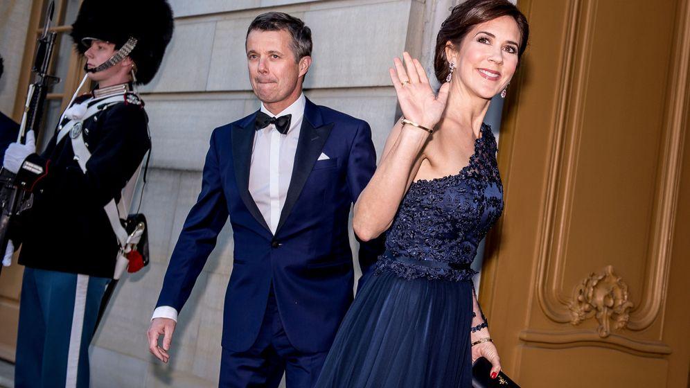Foto: Federico y Mary llegando a la fiesta. (Reuters)