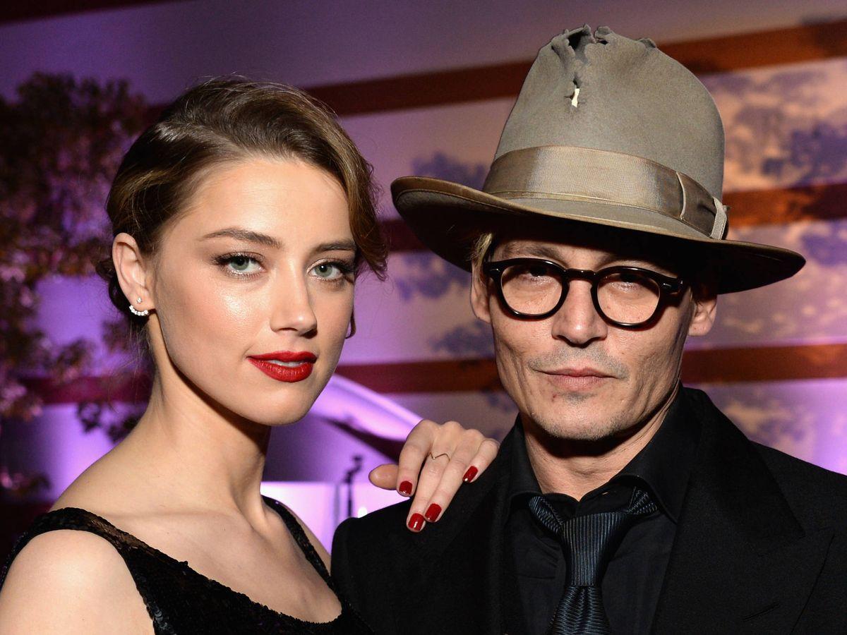 Foto:  Amber Heard y Johnny Depp. (Getty)