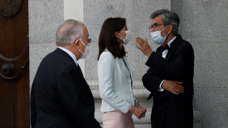 La ministra de Justicia, Pilar Llop, con Carlos Lesmes. (EFE)