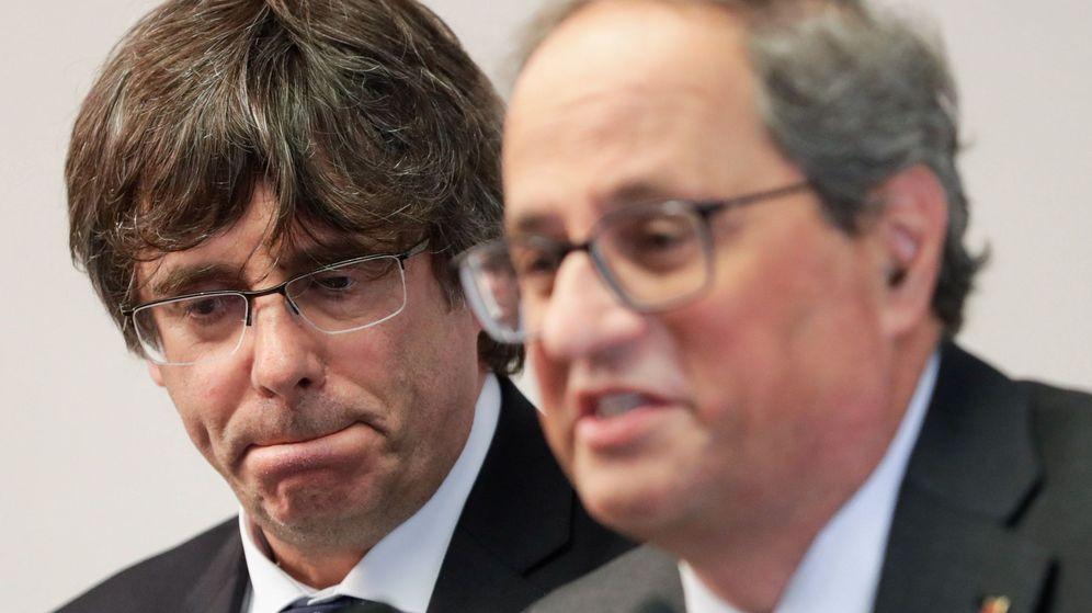 Foto: Puigdemont y Torra. (Reuters)