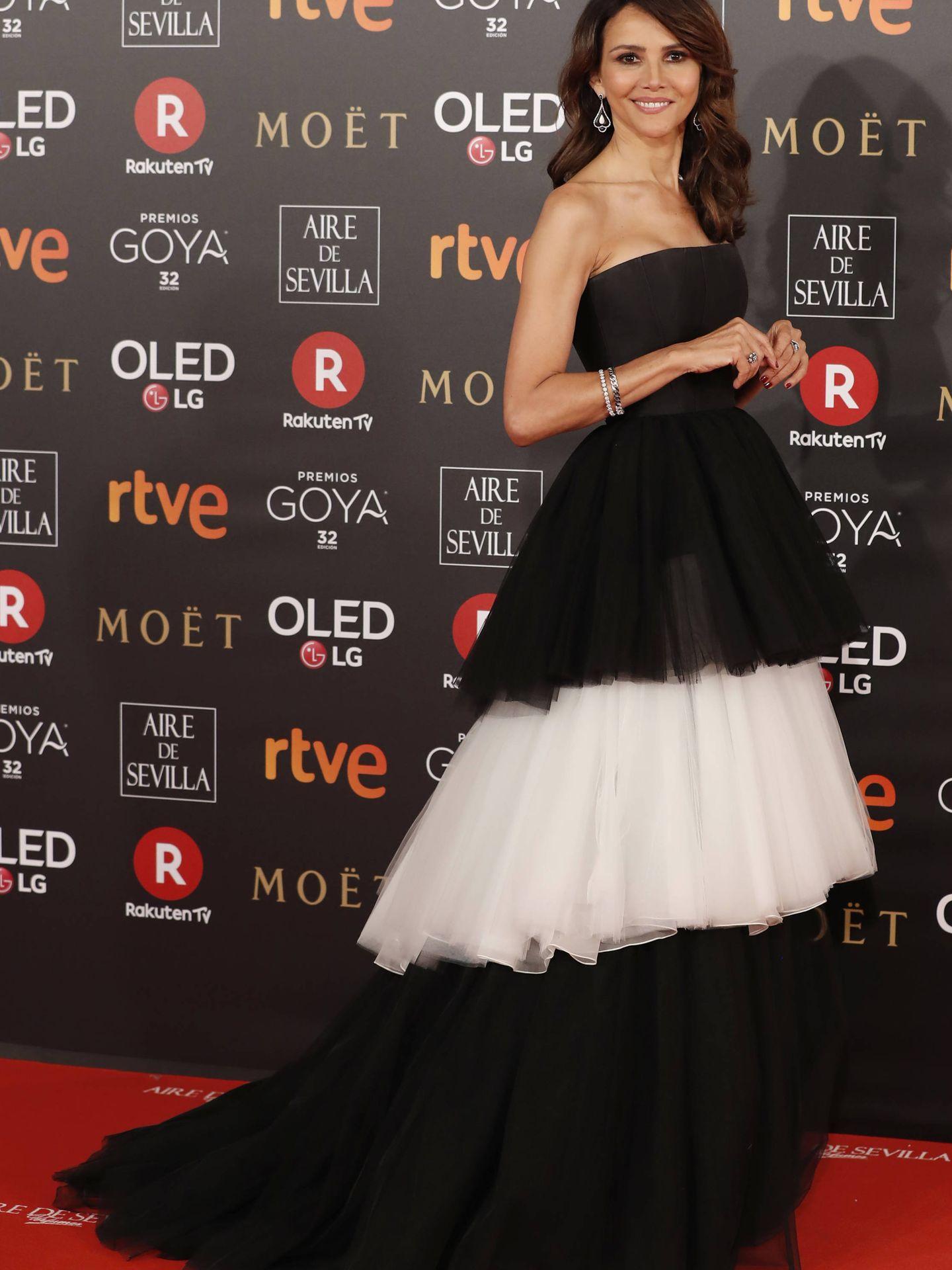 Goya Toledo en los Premios Goya vestida por Carolina Herrera.