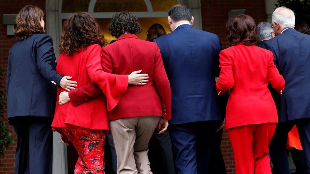 Foto: Los ministros del gabinete del jefe del Ejecutivo, Pedro Sanchez. (EFE)