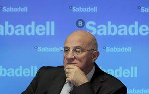 Los derechos y las acciones de Sabadell 'empatan' en la recta final