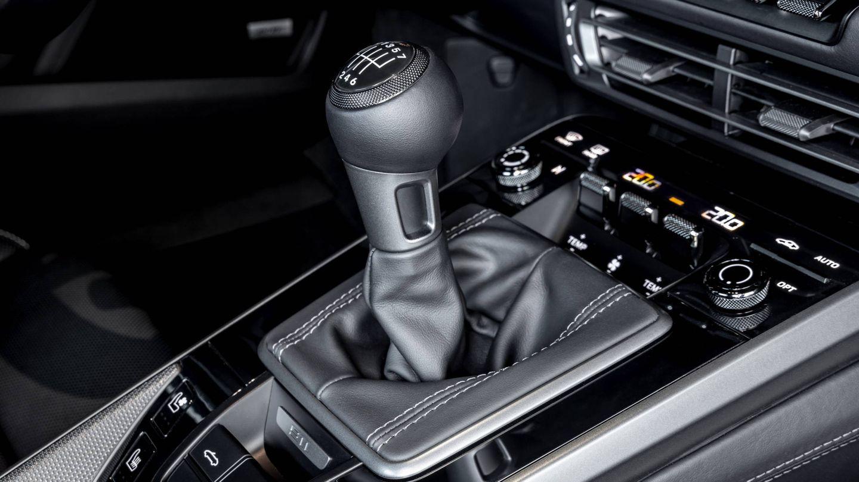 Esta es la palanca del nuevo cambio manual de 7 marchas del Porsche 911.
