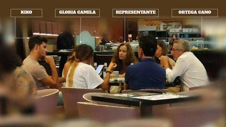 Gloria Camila y Kiko planean su boda (con Ortega Cano) en un bar de La Moraleja