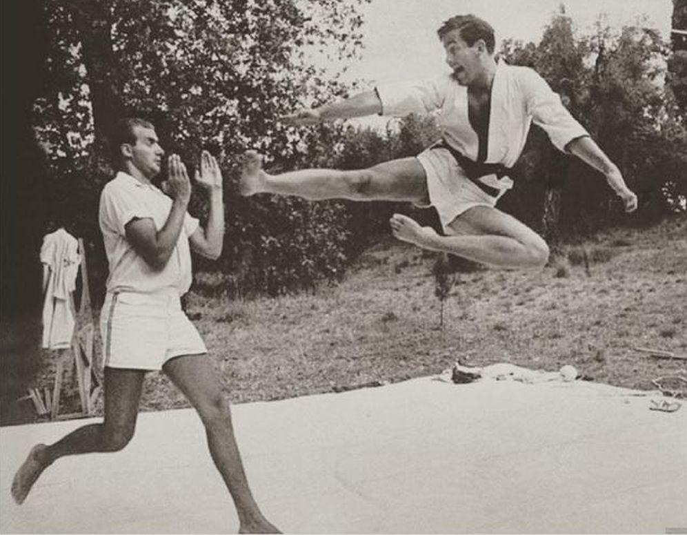 Foto: El Rey Juan Carlos y Constantino luchando