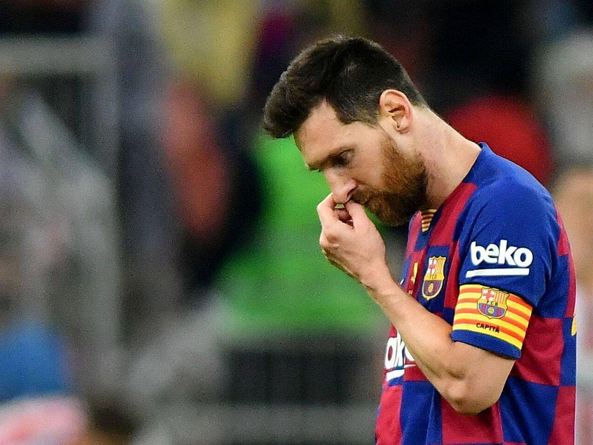 Foto: Leo Messi, cabizbajo durante un partido con el FC Barcelona. (EFE)