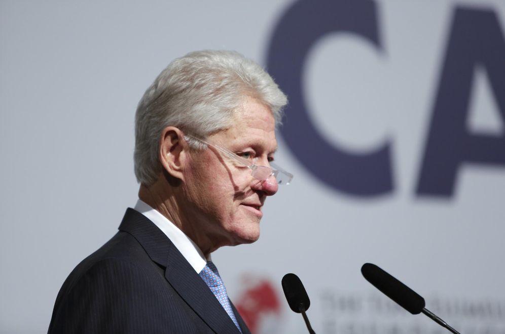Foto: Bill Clinton da una charla en una conferencia sobre capitalismo inclusivo en Londres, en mayo de 2014 (Reuters)