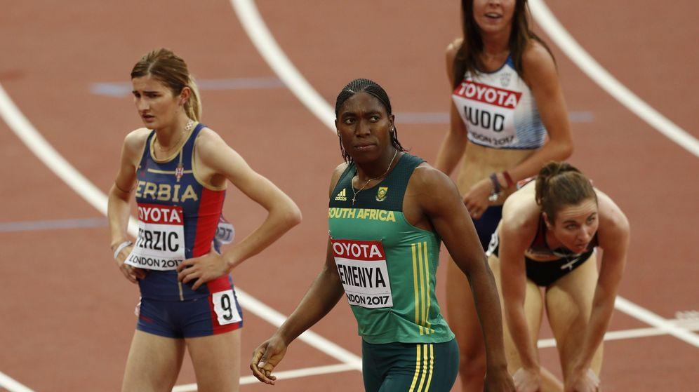 Foto: Caster Semenya, en los mundiales de atletismo. (Reuters)