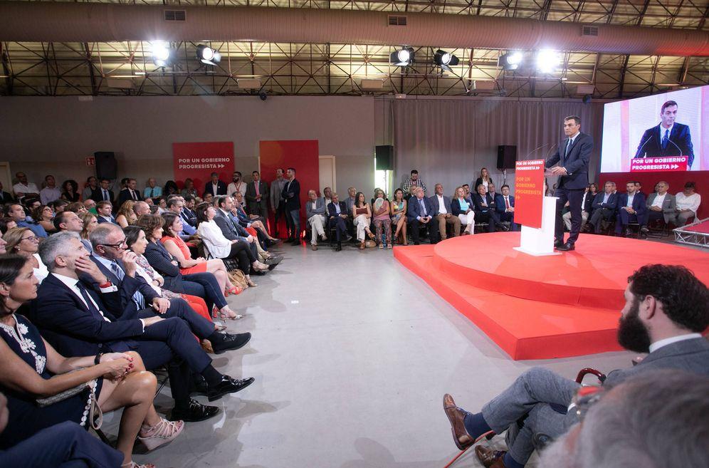 Foto: Pedro Sánchez, durante la presentación del 'Programa común progresista', este 3 de septiembre en el espacio MEEU de la estación de Chamartín, en Madrid. (Eva Ercolanese | PSOE)