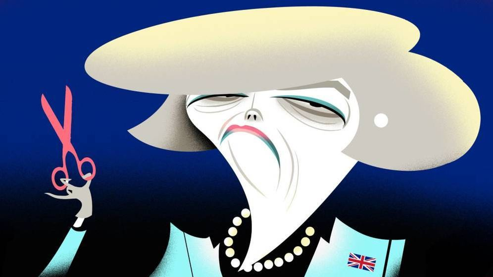 Foto: Theresa May. (Ilustración: Raúl Arias)