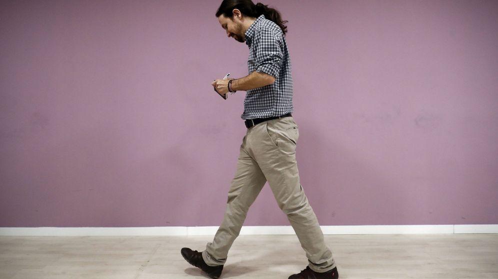 Foto: Pablo Iglesias en la sede de Podemos. (EFE)