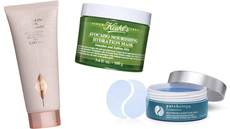 Mascarillas en arcilla, crema o hidrogel que también se pueden aplicar antes del maquillaje.