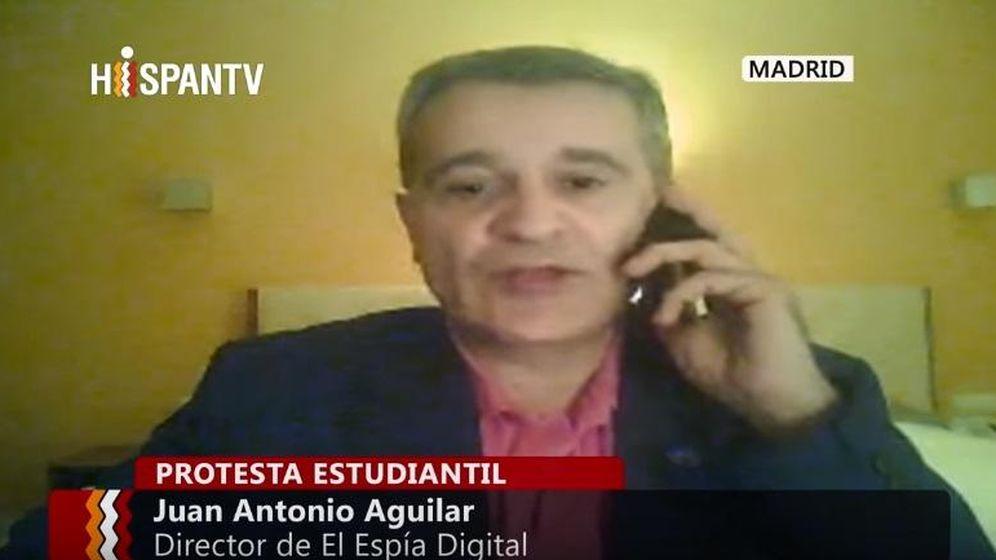 Foto: Juan Antonio Aguilar durante una intervención en un programa de HispanTV. (YouTube)