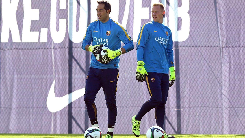 Foto: Bravo y Ter Stegen siguen rotándose entre la Liga y las copas (EFE).
