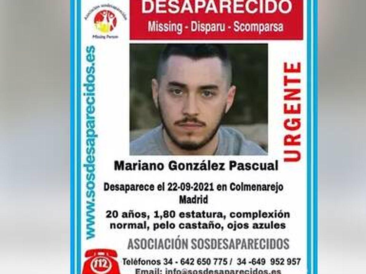 Foto: Cartel de desaparición de Mariano González Pascual. (SOS DESAPARECIDOS)