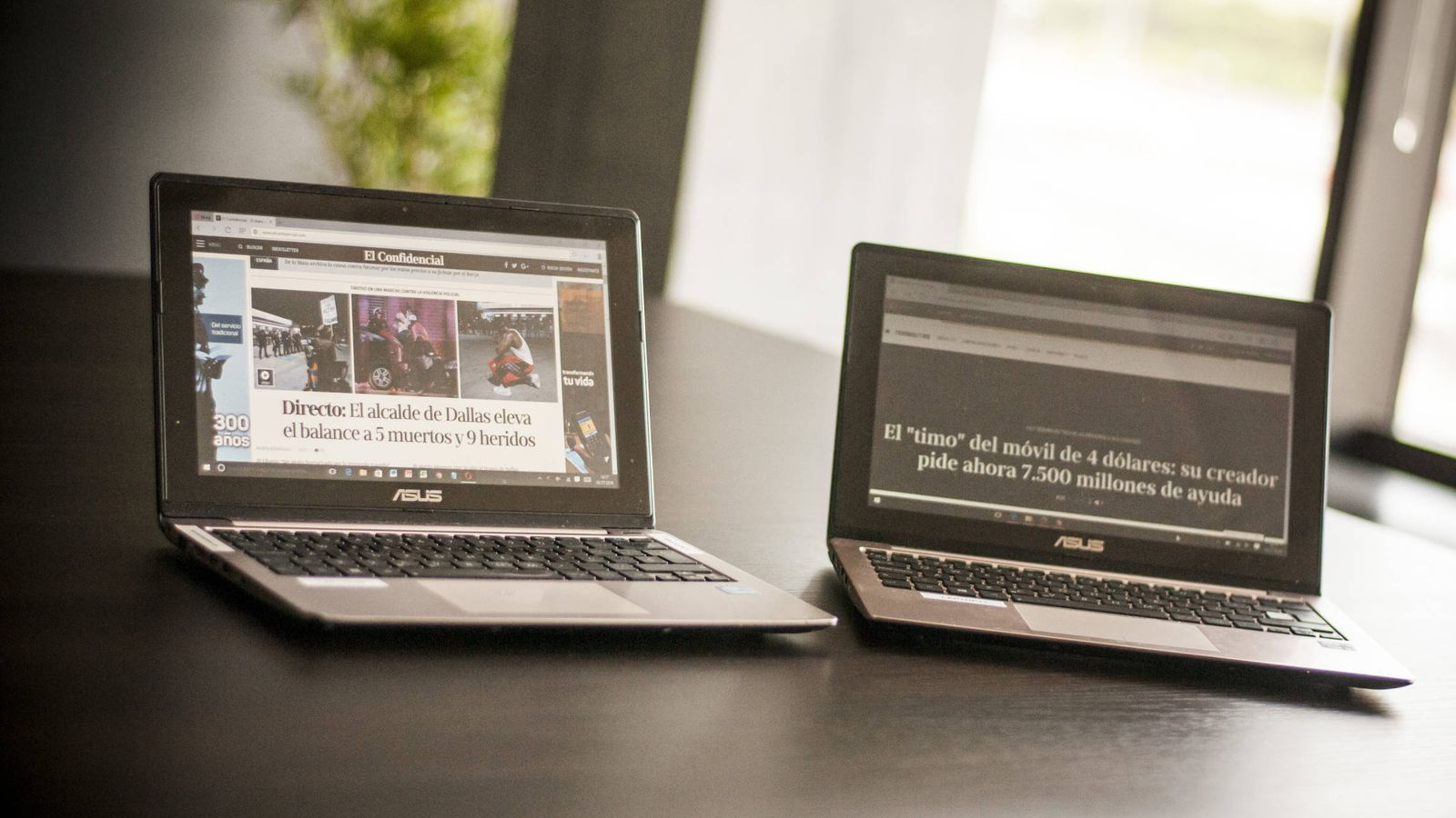 Foto: Los ordenadores con los que hemos hecho las pruebas de rendimiento de los navegadores. (Carmen Castellón)