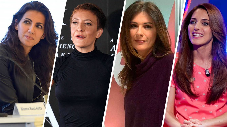 Foto:  Personalidades como Ana Pastor, Eva Hache, Lara Siscar y América Valenzuela han sufrido episodios de acoso, en algunos casos incluso físico. (Montaje: Carmen Castellón)