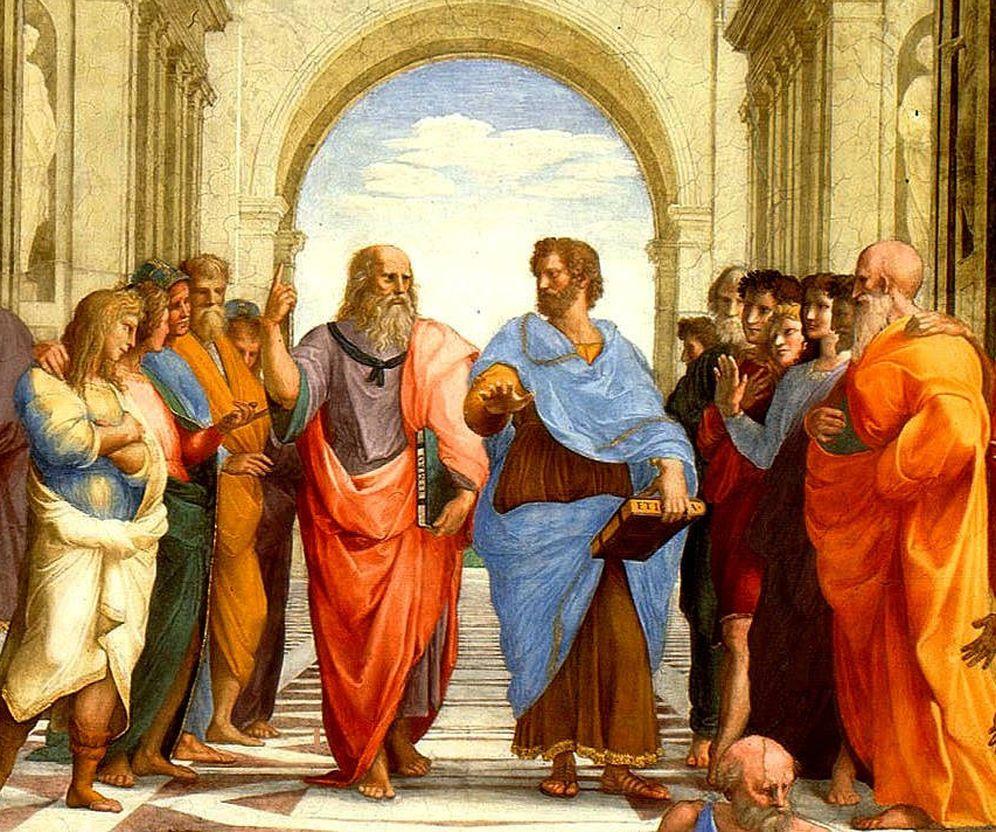 Foto: Sócrates y Aristóteles en el cuadro 'La escuela de Atenas' de Rafael Sanzio