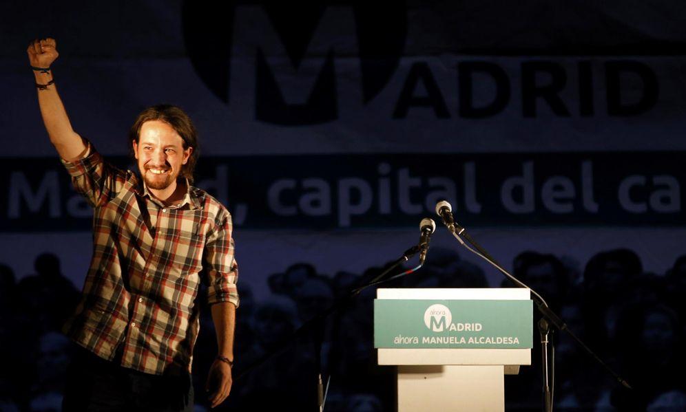 Foto: El líder de Podemos, Pablo Iglesias, tras conocerse los resultados de las elecciones. (Reuters)