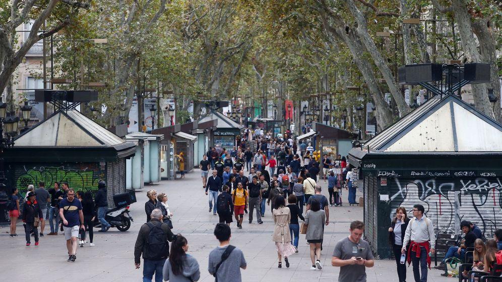 Foto: Vista general de Las Ramblas de Barcelona. (EFE)