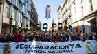 Unos 35.000 policías y guardias civiles exigen en Barcelona una equiparación salarial