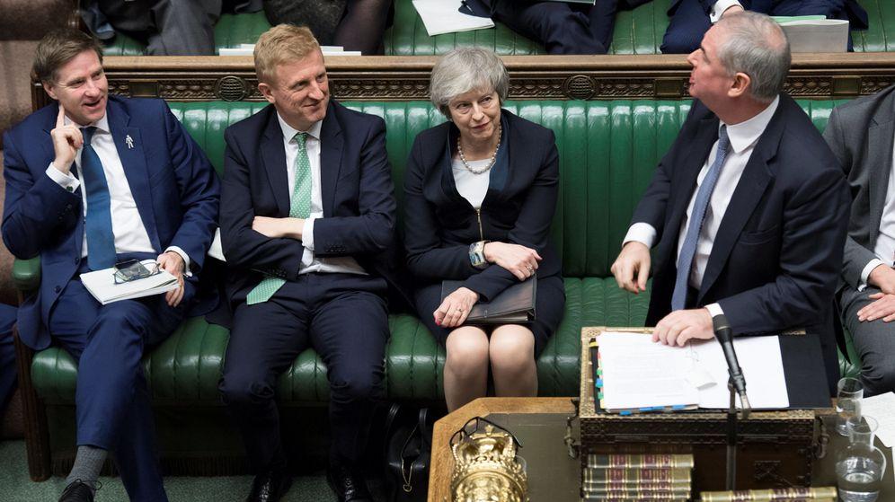 Foto: La primera ministra británica, Theresa May, ante la votación del acuerdo del Brexit. (Reuters)
