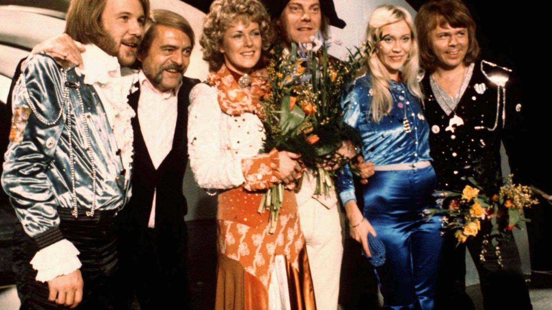 El grupo, tras ganar Eurovisión por 'Waterloo'. (Gtres)