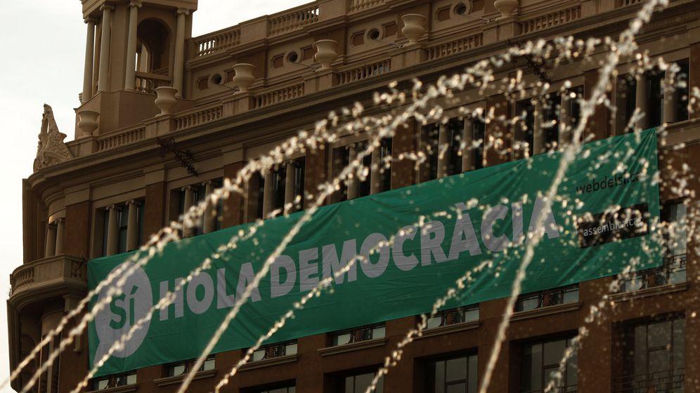 Foto: Cartel a favor del sí en Barcelona.