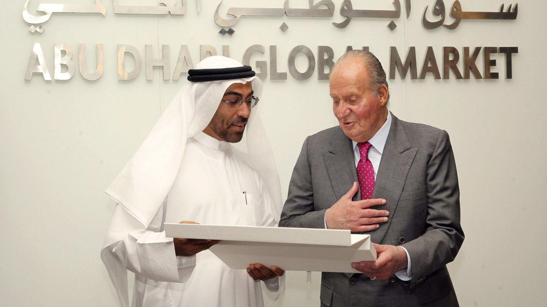 El rey Juan Carlos, durante una visita oficial a Abu Dabi. (EFE)