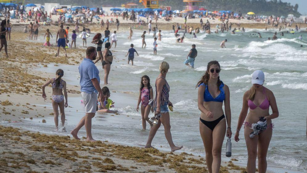 Foto: Una playa en Maimi. (EFE)